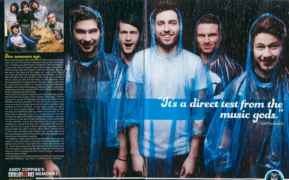 you me at six Rocksound cover by Tom Barnes